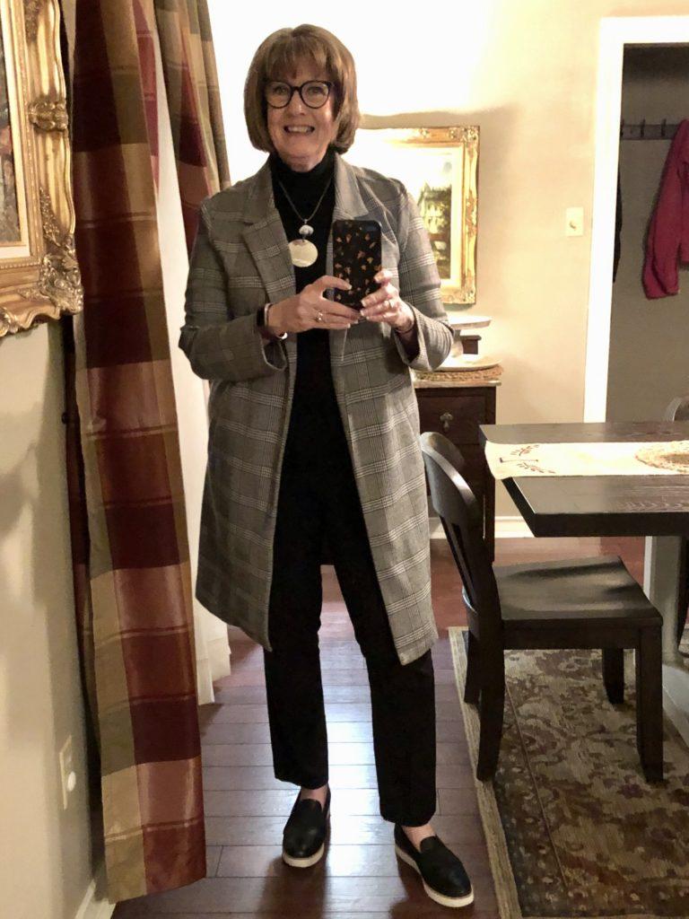 Pamela Lutrell in Winter 2020 look