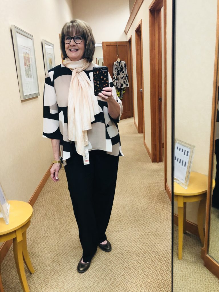 Pamela Lutrell in Niche Top at Dillards 2020