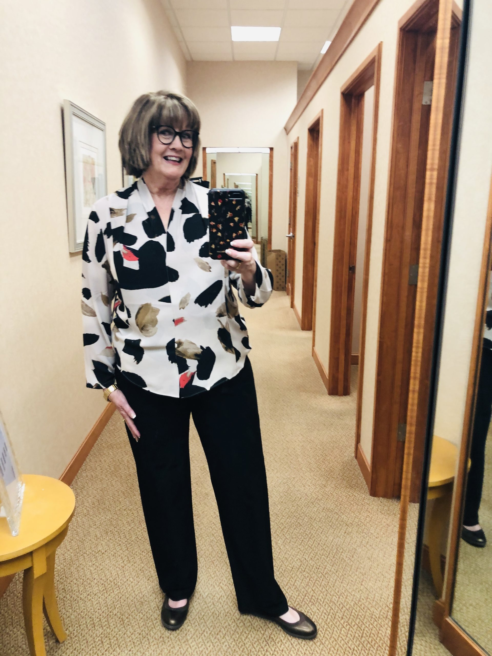 Pamela Lutrell wears Nick & Zoe at Dillards