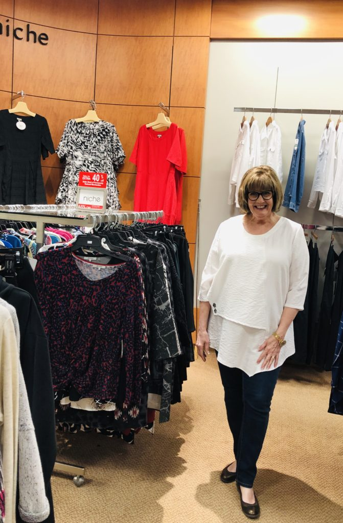 Pam Lutrell in White Tunic by Niche at Dillards