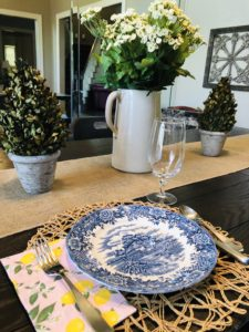 Pamela Lutrell sets a pretty table during stay at home for COVID-19