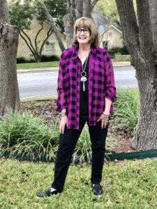 Pamela Lutrell shops Goodwill SA for spring styles
