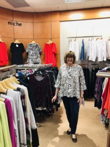 Pamela Lutrell in Spring 2020 styles by Niche at Dillards in The Shops of La Cantera