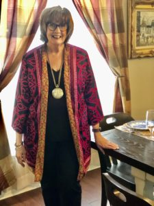 Over 50 Feeling 40 encourages dressing for dinner during stay at home isolation