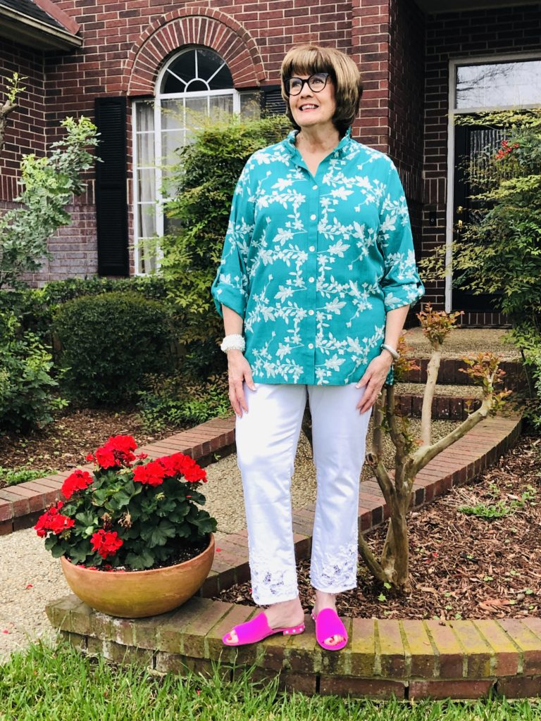 Soft Surroundings Tunic for Spring 2020 on Over 50 Feeling 40