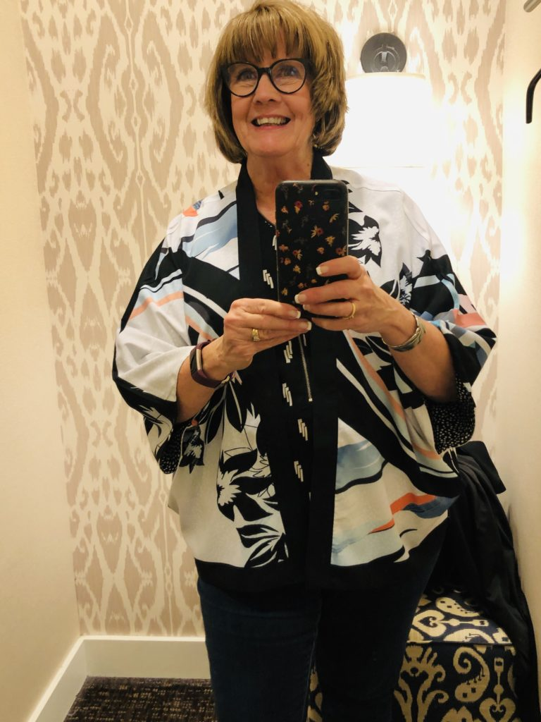 Over 50 Feeling 40 in reversible Chicos jacket