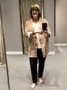 Over 50 Feeling 40 in JJill Plaid Jacket
