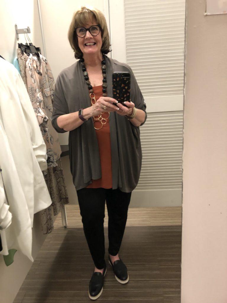 Pamela Lutrell dressed for shopping