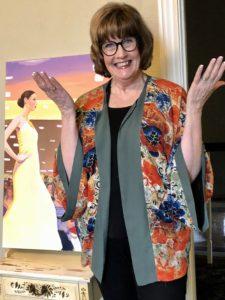 Pamela Lutrell dressing for work at home on Over 50 Feeling 40