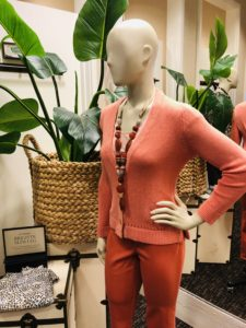 Pamela Lutrell with Chico's mannequins on over 50 feeling 40