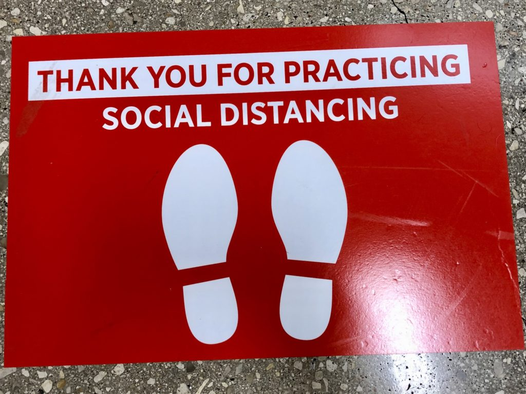 HEB social distancing directions on Over 50 Feeling 40
