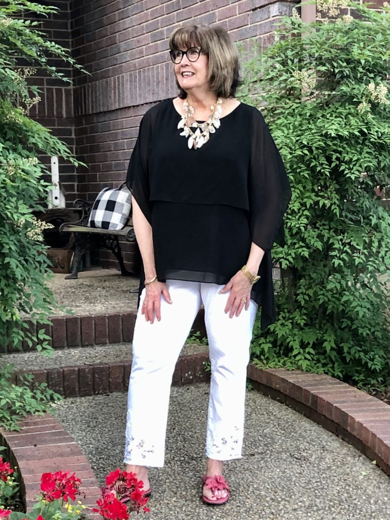 Soft Surroundings Summer Evening Outfit on Over 50 Feeling 40