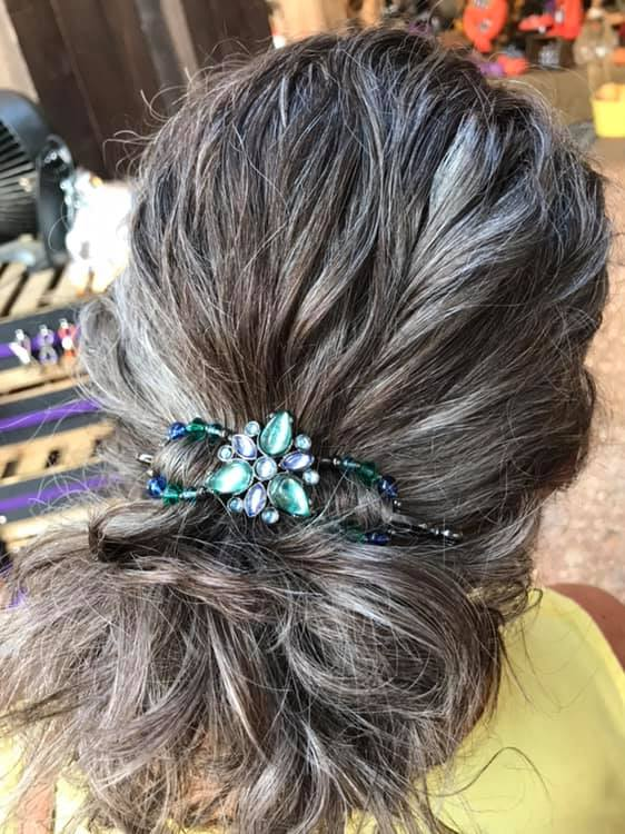 Hair Accessories for long hair on over 50 Feeling 40
