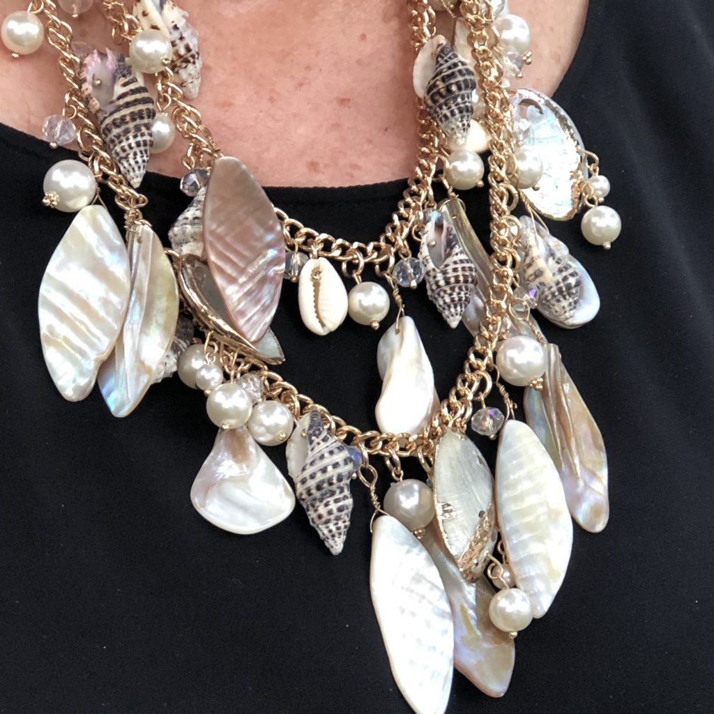 Shell Necklace from Soft Surroundings on Over 50 Feeling 40