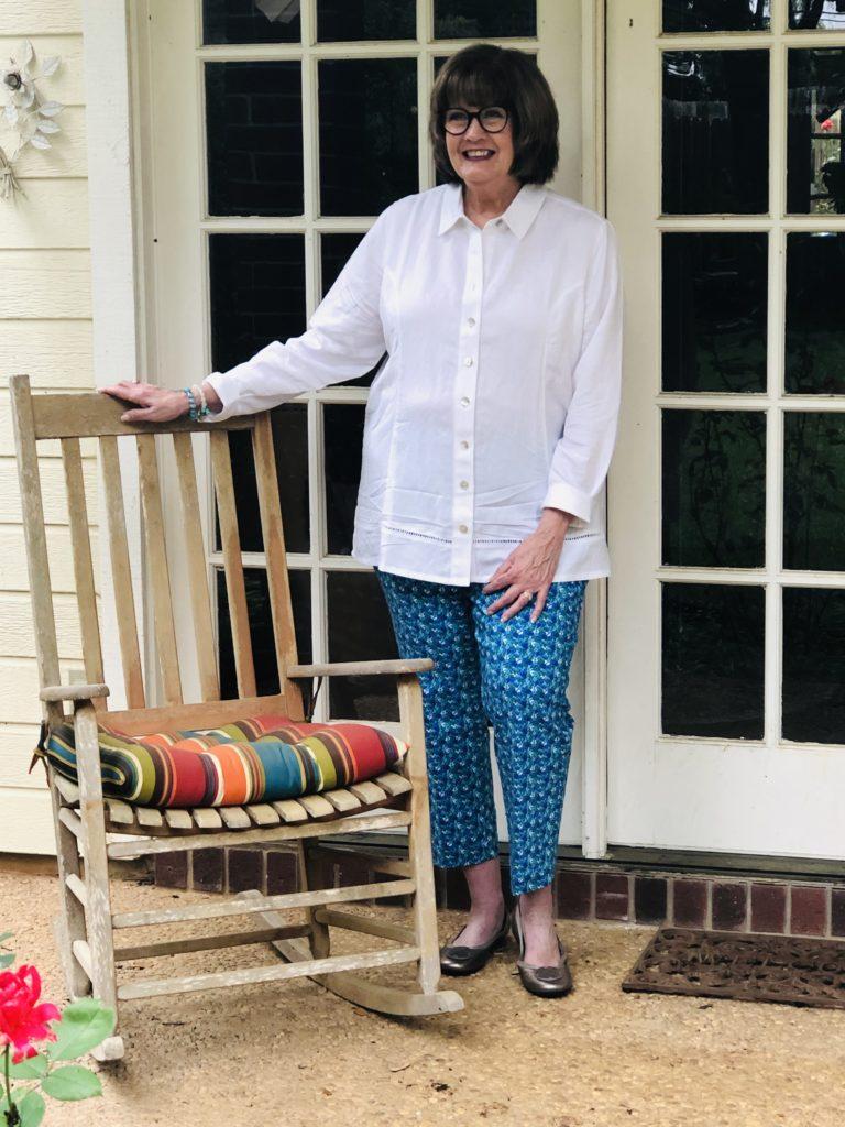 Pamela Lutrell in Soft Surroundings ankle pants
