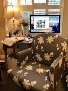 Pamela Lutrell's work chair from Marshalls
