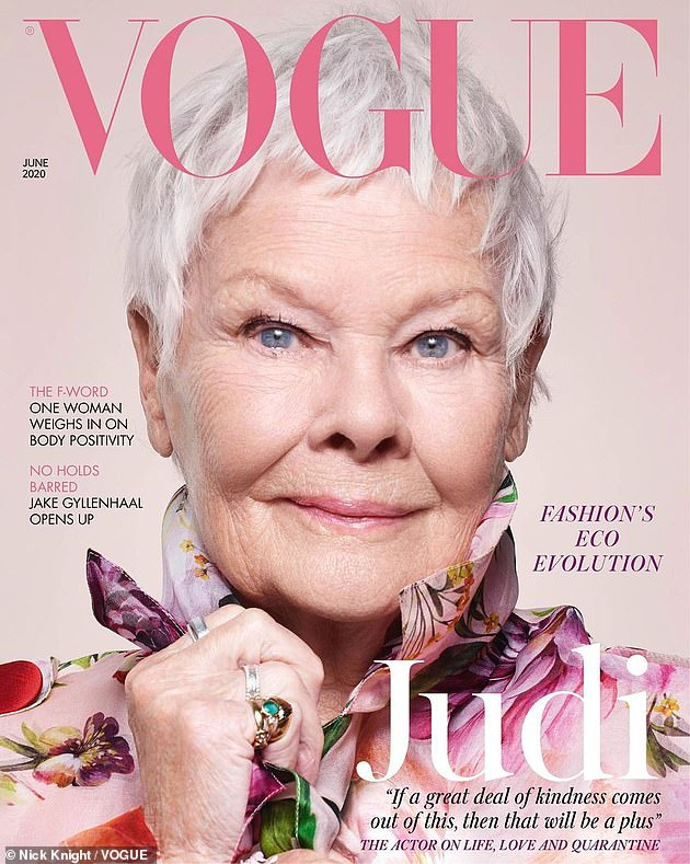 Dame Judi Dench on Vogue on Over 50 Feeling 40