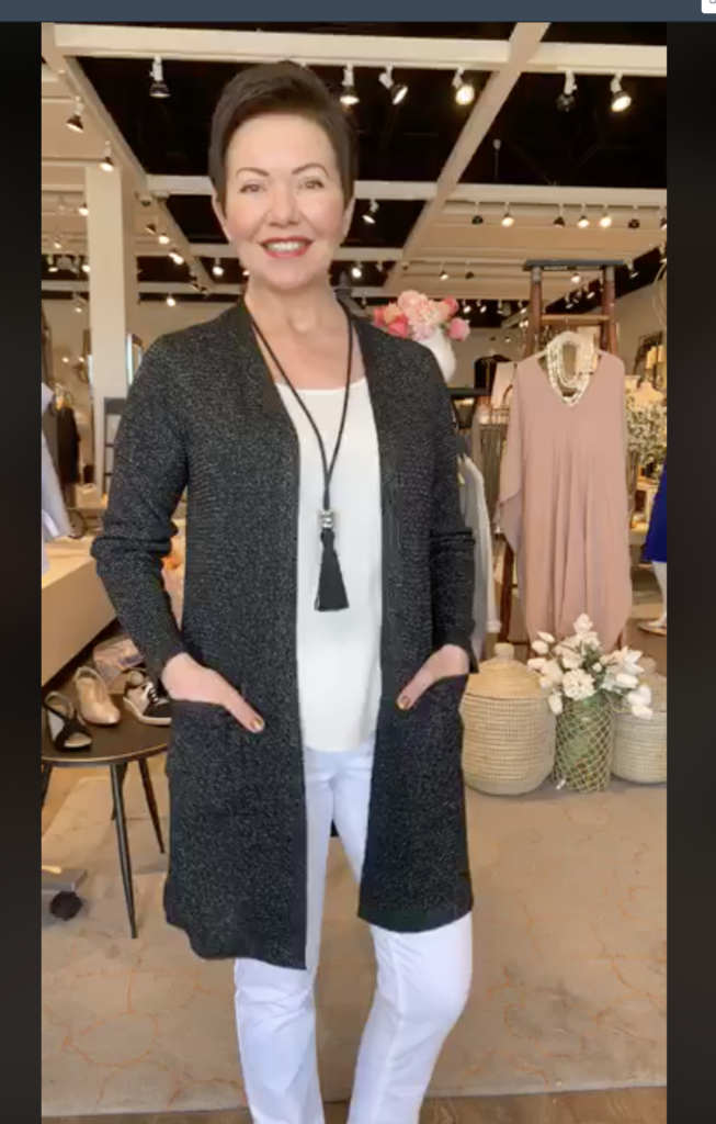 Shepherds Fashion in Eileen Fisher on Over 50 Feeling 40