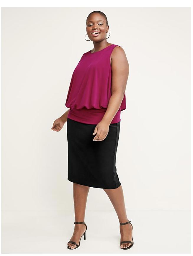 Lane Bryant Skirt on Over 50 Feeling 40