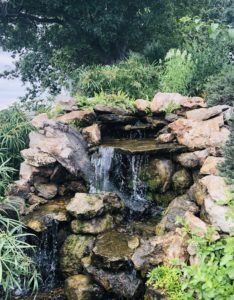 Fountain at Milberger Landscaping on Over 50 Feeling 40