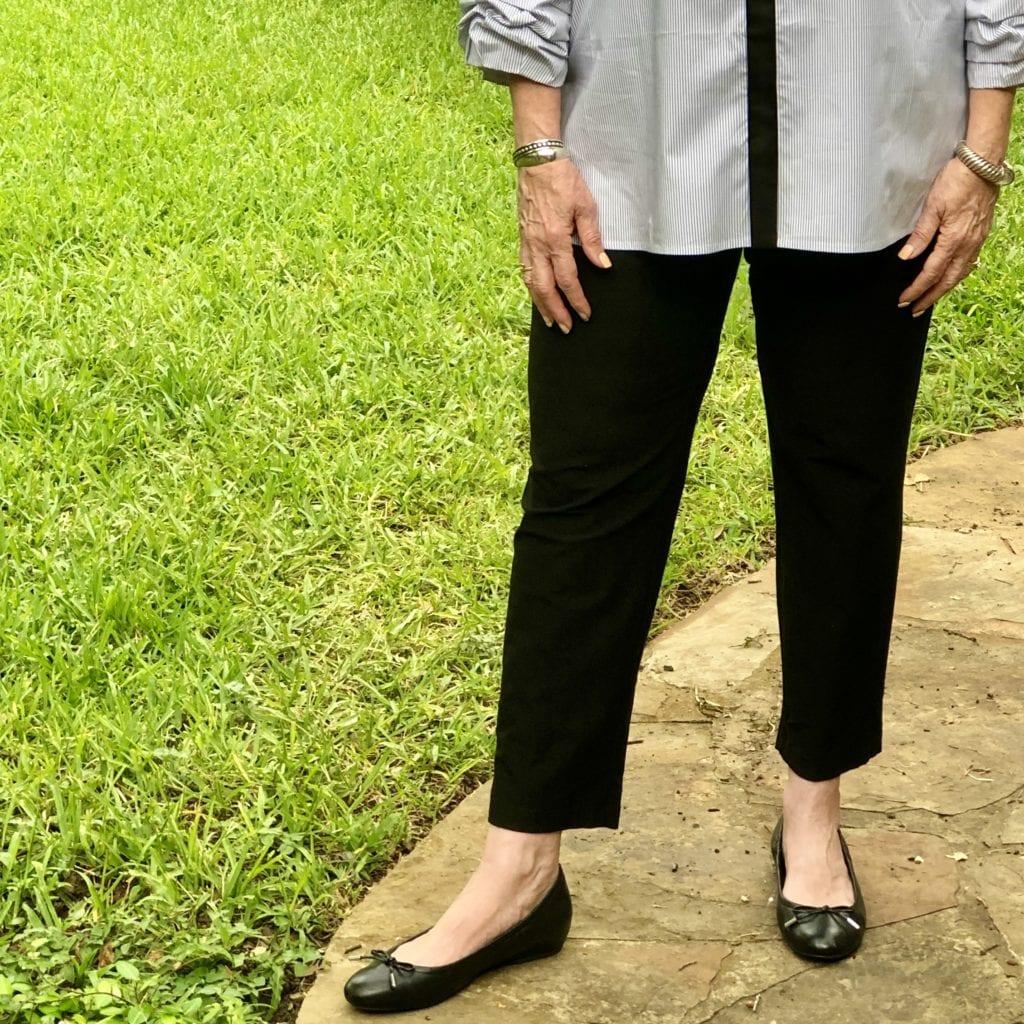 Favorite Eileen Fisher pant on over 50 Feeling 40