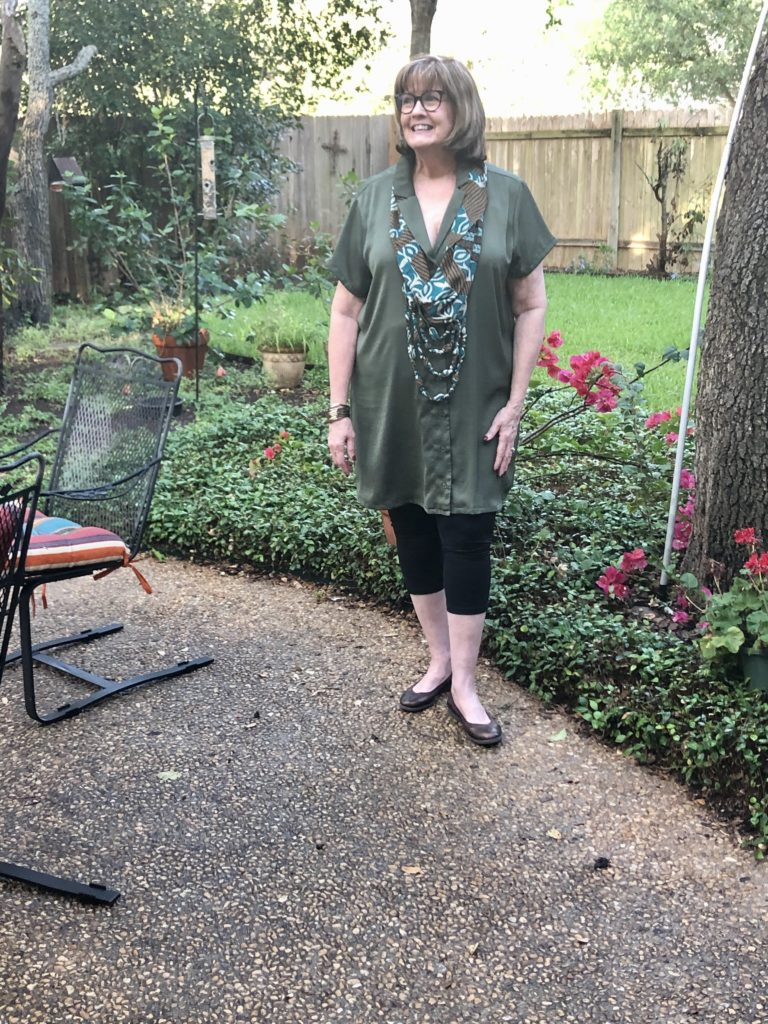 Shirtdress from H & M on Over 50 Feeling 40