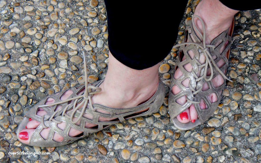 Summer sandals on over 50 feeling 40