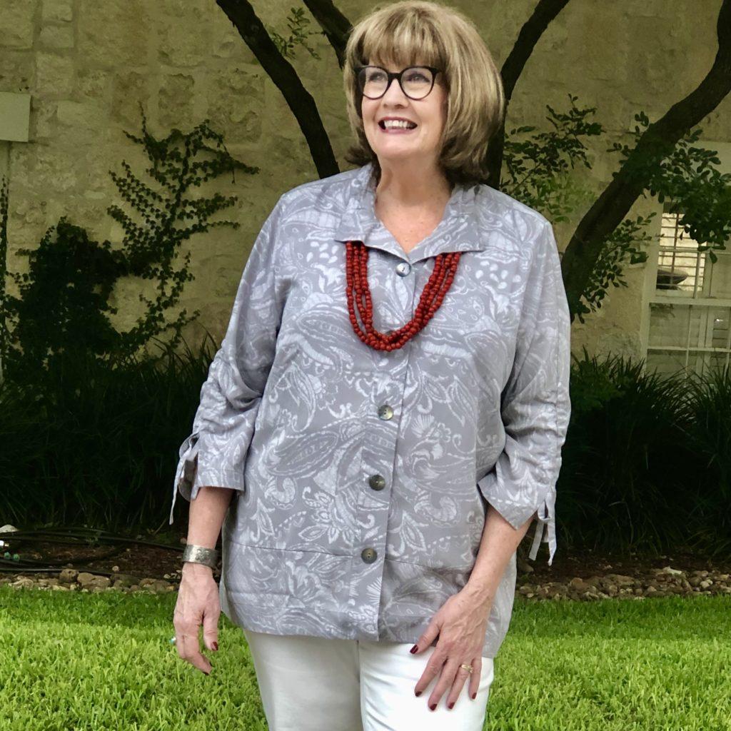 Soft Surroundings summer fabrics on over 50 feeling 40