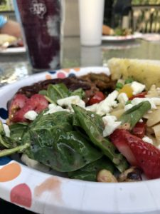 Spinach Strawberry Salad on Over 50 Feeling 40