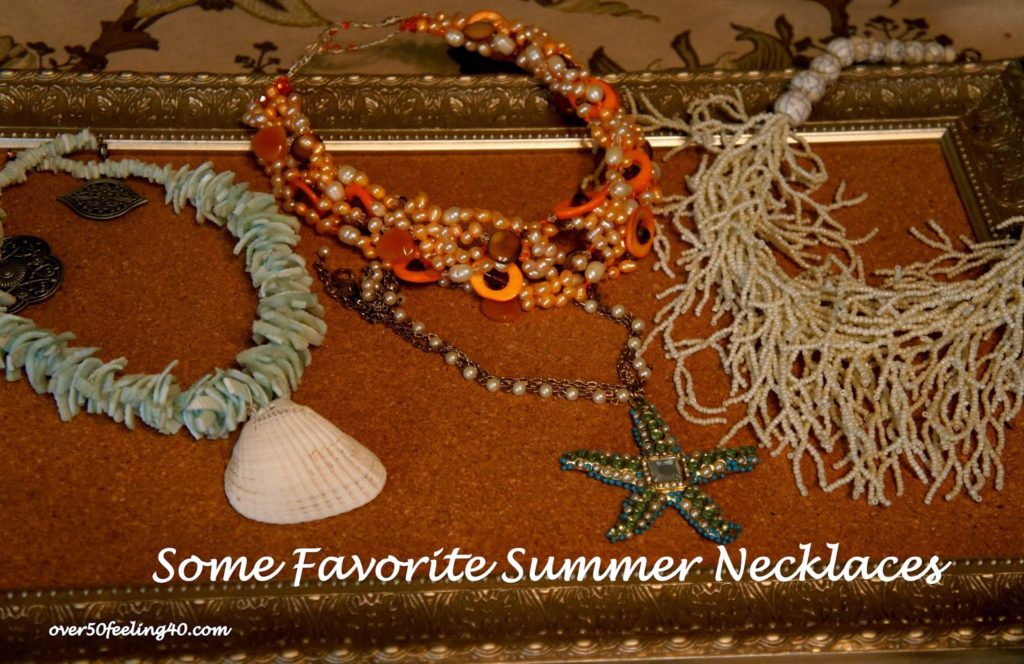 Summer Necklaces on Over 50 Feeling 40