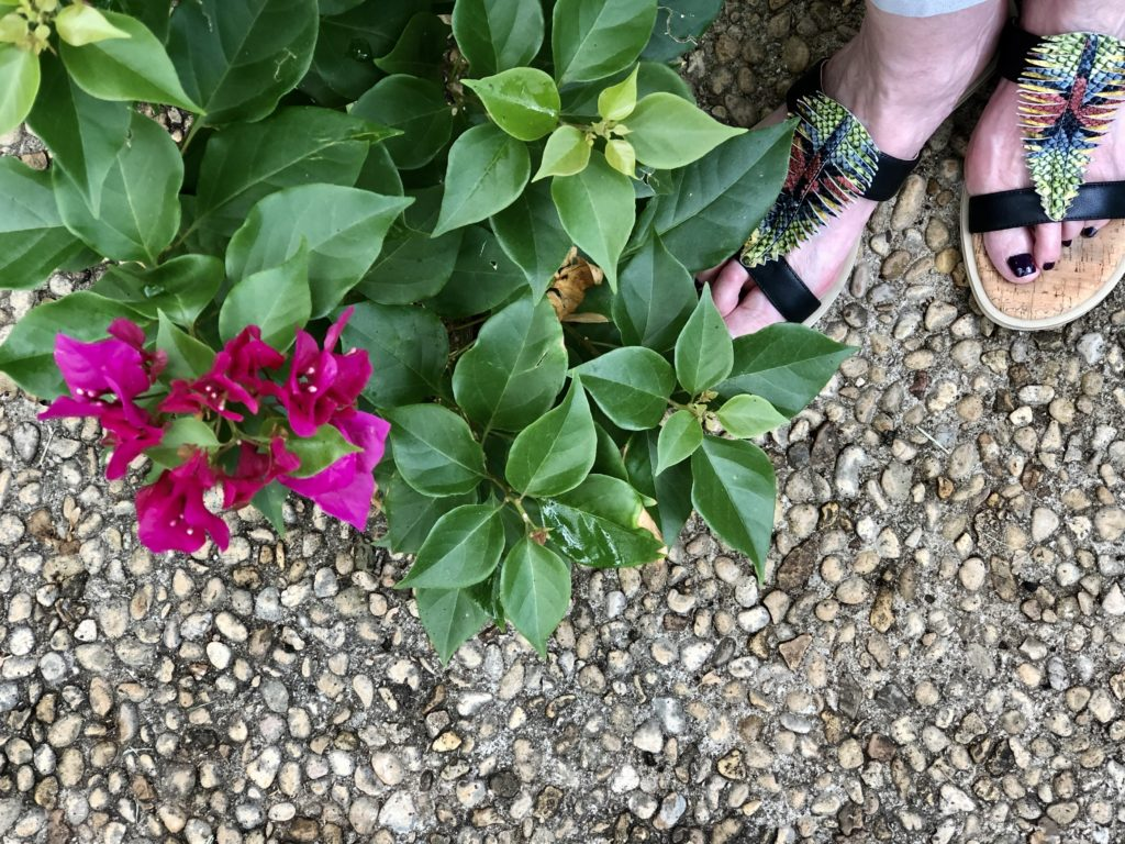 Colorful Sandals on Over 50 Feeling 40