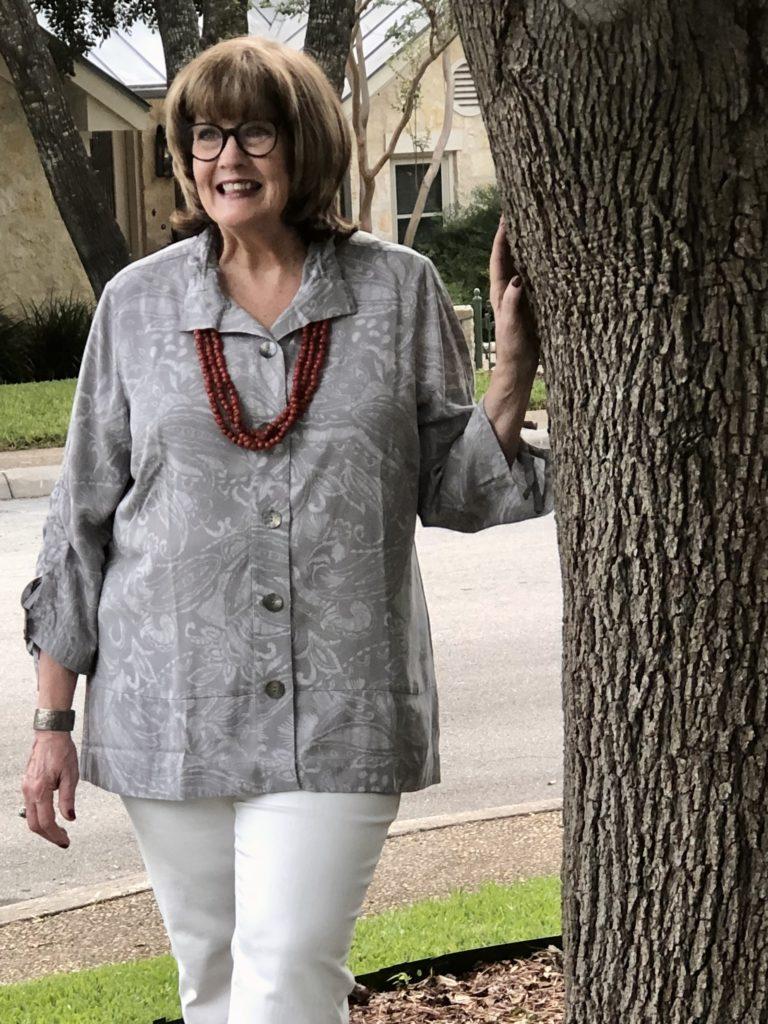 Soft Surroundings tencel tunic on over 50 feeling 40