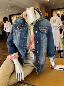 Chicos Denim Jacket on Over 50 Feeling 40