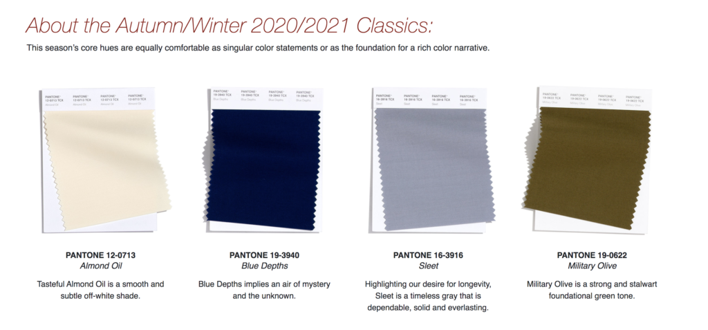 Pantone Colors for 2020/2021 on over 50 feeling 40