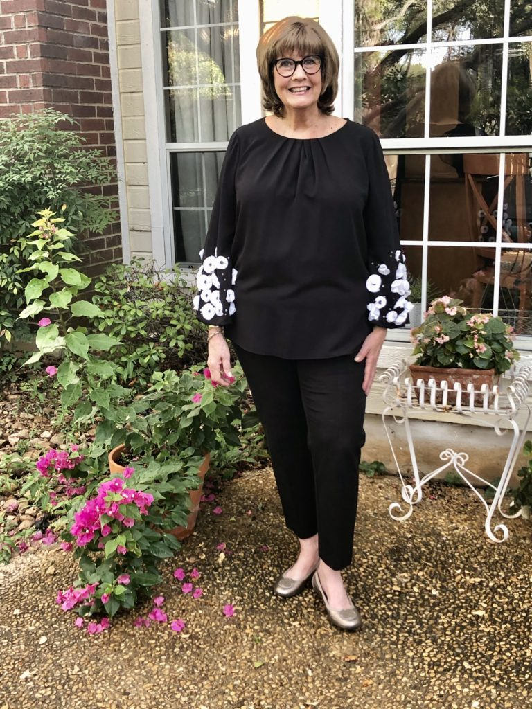 Macys Alfani top on over 50 feeling 40