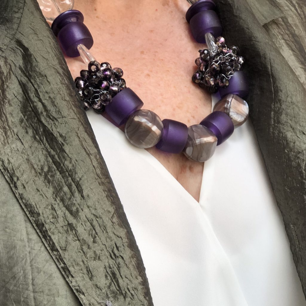Purple necklace by Pam Neri on Over 50 Feeling 40