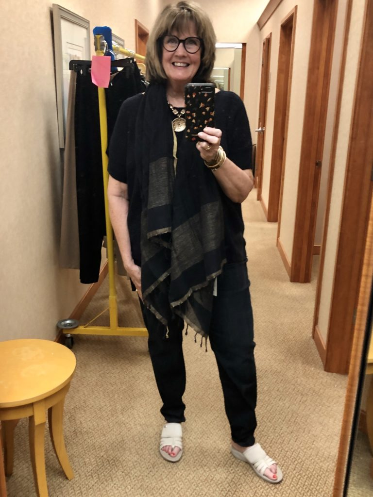 Navy Blue Eileen Fisher on Over 50 Feeling 40