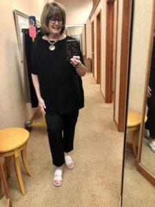 Eileen Fisher Black on Over 50 Feeling 40