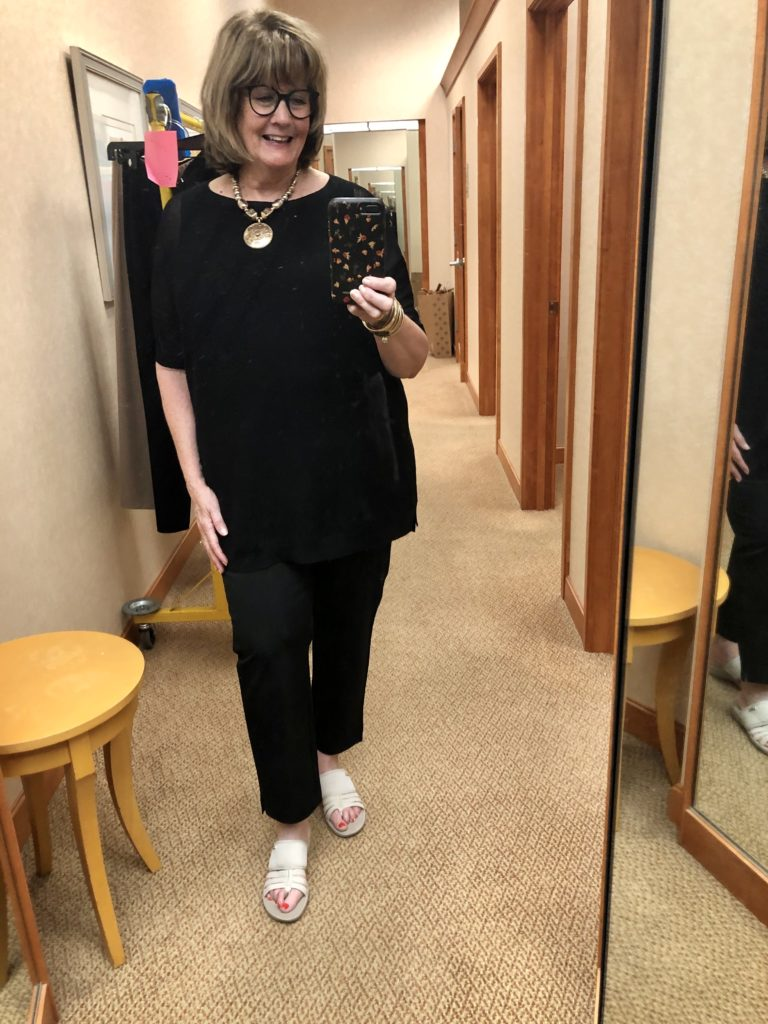 Eileen Fisher Black on Over 50 Feeling 40