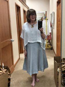 Organic Linen Eileen Fisher Dress at Dillards on Over 50 Feeling 40