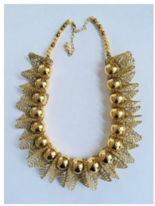 Pam Neri gold necklace on over 50 feeling 40