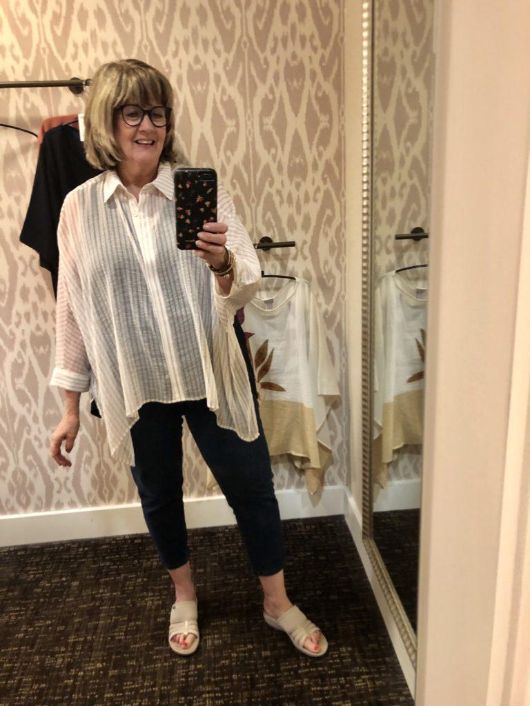 Marla Wynn at Chicos on Over 50 Feeling 40