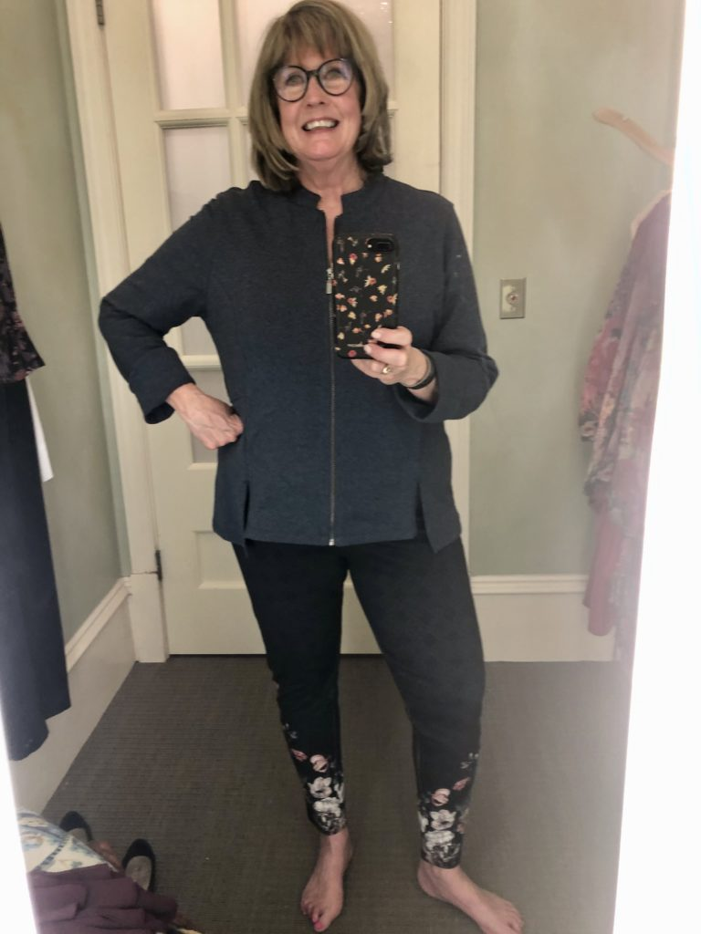 Pamela Lutrell in Kajal jacket from Soft Surroundings on over 50 feeling 40