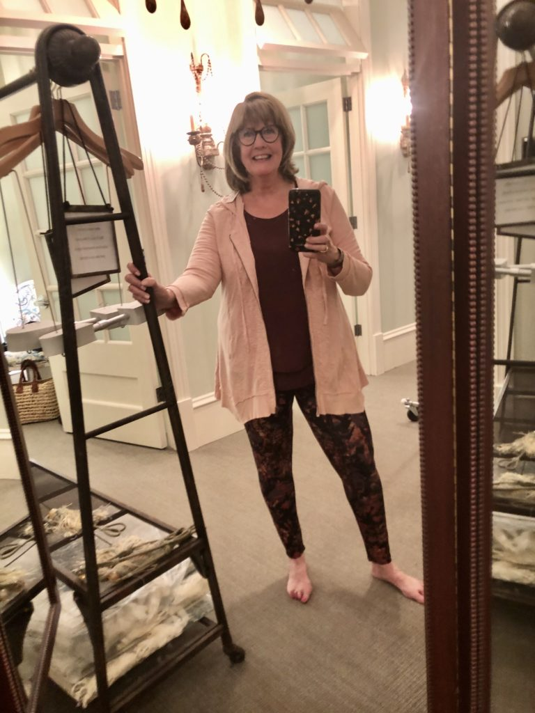 Pamela Lutrell in Soft Surroundings on over 50 feeling 40