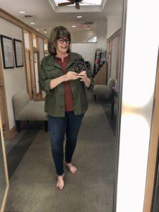 Pamela Lutrell in Talbots Jeggings on over 50 Feeling 40