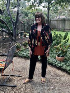 Pamela Lutrell styles looks from her closet on Over 50 Feeling 40