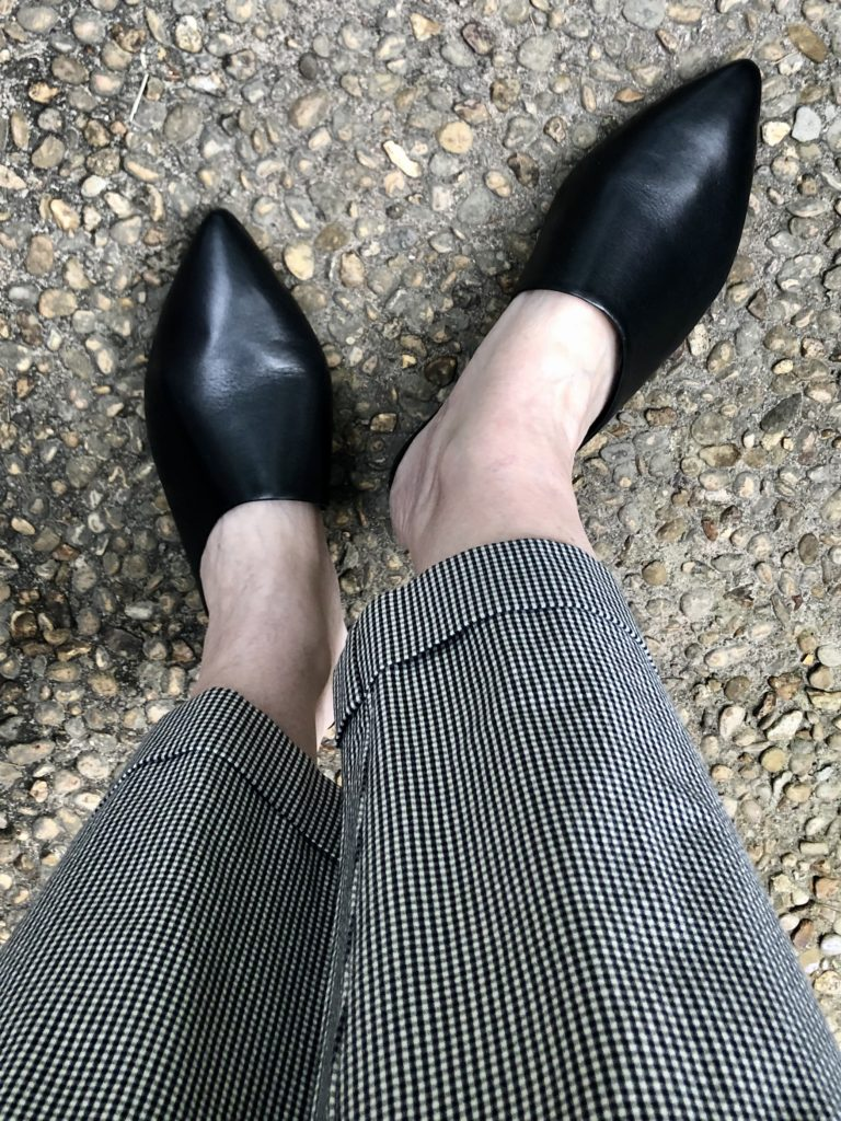 Rockport Leather Mules on Over 50 Feeling 40