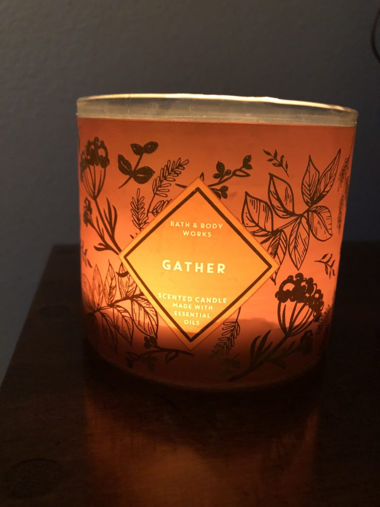 Bath and Bodyworks Candles on Over 50 Feeling 40