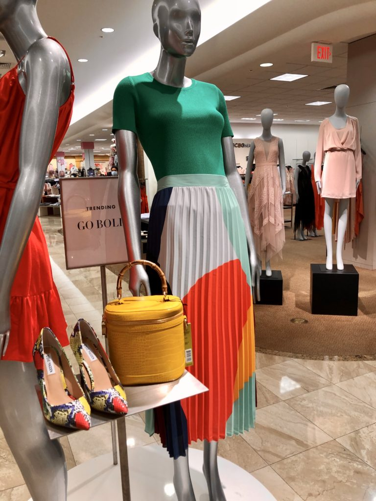 Be Bold Display at Dillards on Would You Wear It with over 50 feeling 40