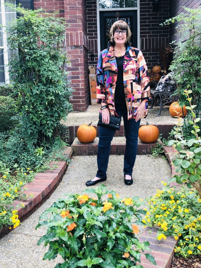 Pamela Lutrell in Ali Miles Artisan Jacket from Dillards